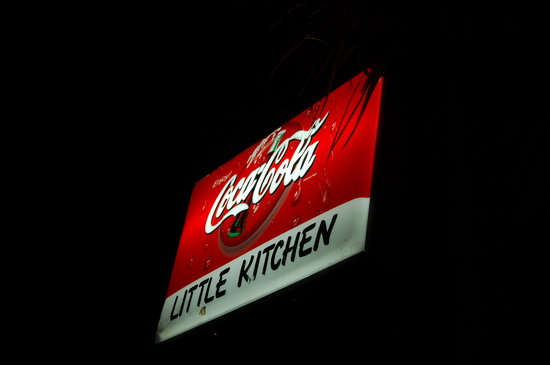 """The Little Kitchen : """"Little Kitchen"""" sign from the road."""
