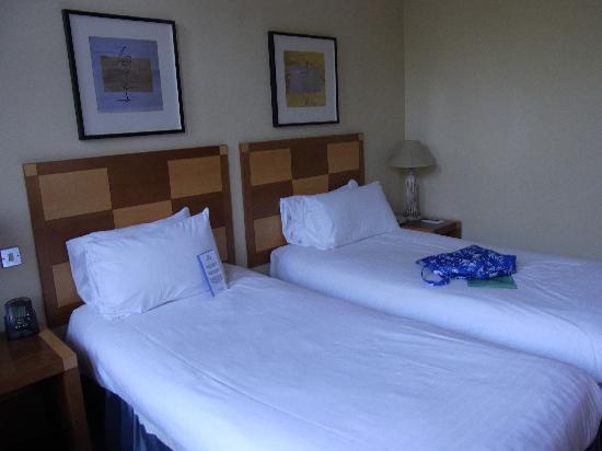 Hilton Glasgow Grosvenor Hotel: ゆったりした部屋で、眺めは植物園のみどり・・・