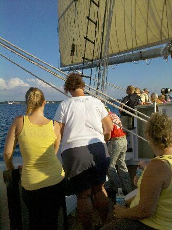 Tall Ship Manitou - Day Tours: Packed like sardines