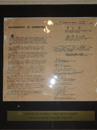 Historic Auto Museum : Japanese Surrender Documents