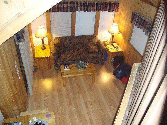 Yosemite Pines RV Resort and Family Lodging: view from the loft in the livingroom
