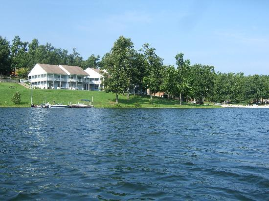 Horseshoe Bend, AR: View of 406 building from a canoe provided by resort.