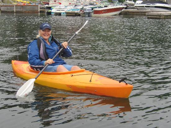 Lake Mayfield  Marina Resort & RV Park: My wife in a kayak