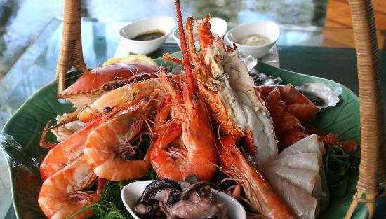Breeze at The Samaya Seminyak: Chilled seafood