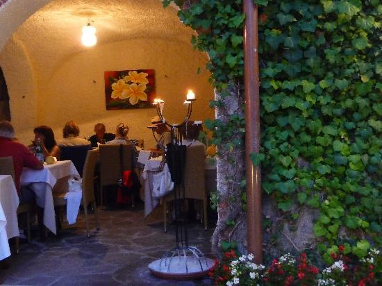 Osteria Antico Brolo: From courtyard looking towards internal area