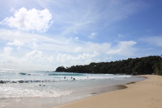 The Surin Phuket: Right side of the beach