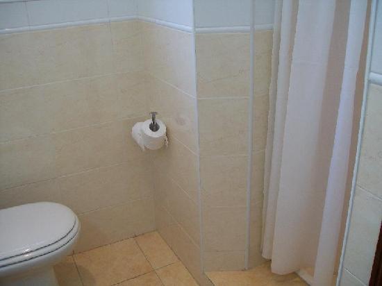 Hotel Santiago: El baño, con ducha