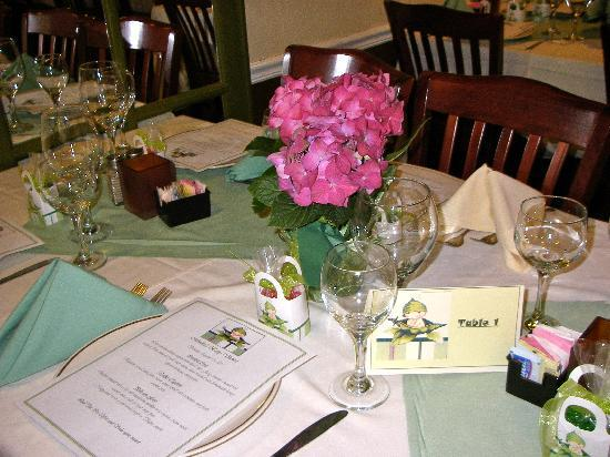 Vidalia Restaurant: our place settings