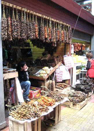 Puerto Montt, Chile: Getrocknetes und geräuchertes Muschelfleisch