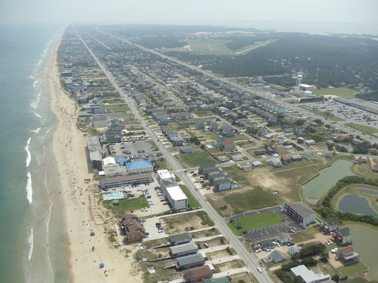 Manteo, Carolina del Norte: veiw from the helicopter