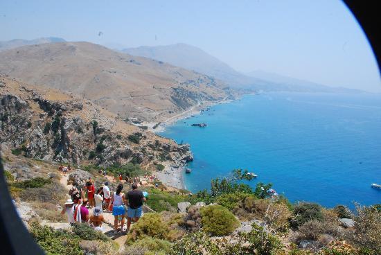 Plakias, Greece: The LOOOOOONG way down - few hundred steps