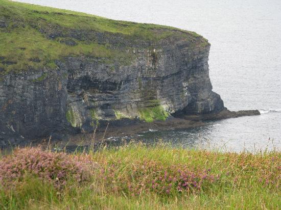 Seashore B&B: one of several amazing cliffs a short stroll away