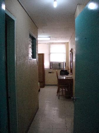 Teo-Fel Pension House: view from the door of a single airconditioned room