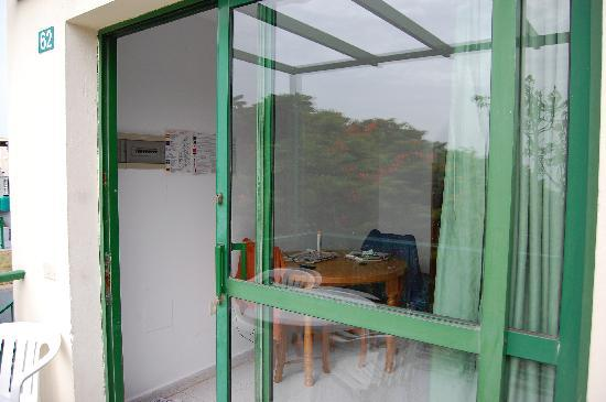 Green Ocean: The way in to the apartment - a very dodgy door