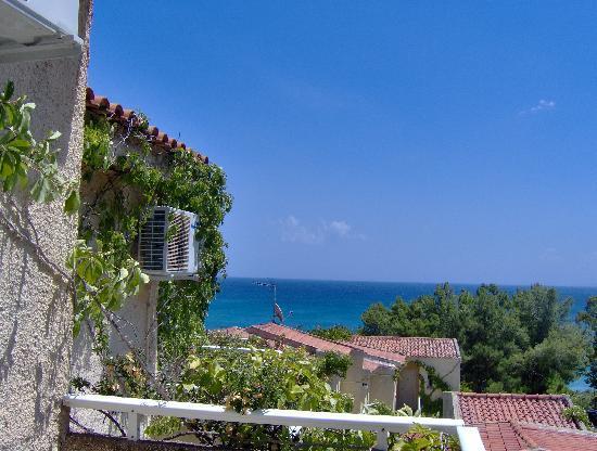 Panas Hotel: la vista dal balconcino