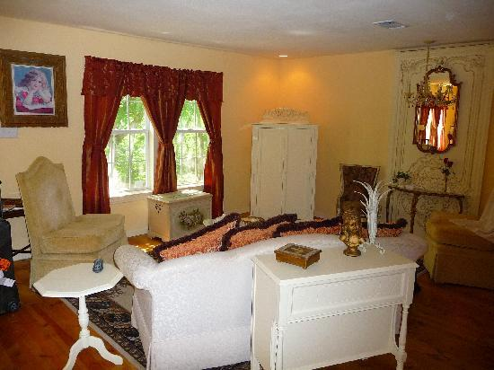 Elm Creek Bed & Breakfast: Living and TV area
