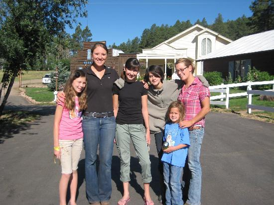 Colorado Trails Ranch: Our kids with their camp counselors