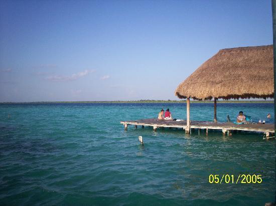 Laguna de Bacalar. Foto tomada en julio de 2010. Costa Maya. Quintana Roo. México
