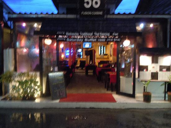Fifty-Six Fusion Cuisine : Restaurant front