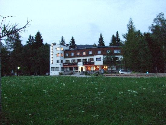 Hotel Berghof in the evening