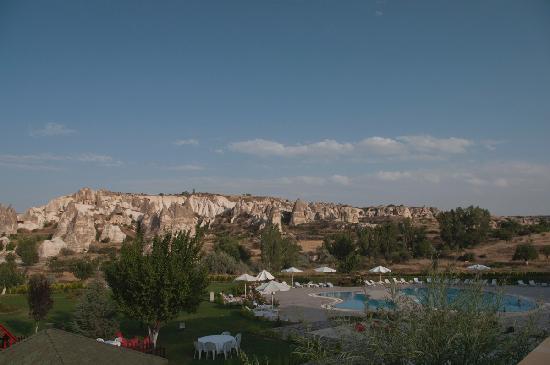 Tourist Hotel & Resort Cappadocia: Ausblick von der Hotelterrasse