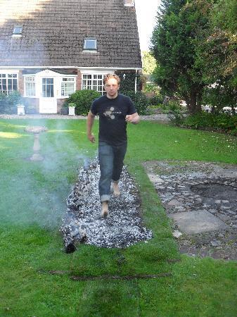 Hazeldean Guest House: Firewalking at Hazeldean