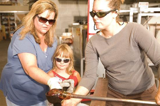 Lincoln City Oregon 'Jennifer L Sears' Glass Blowing Studio with Classes for Visitors