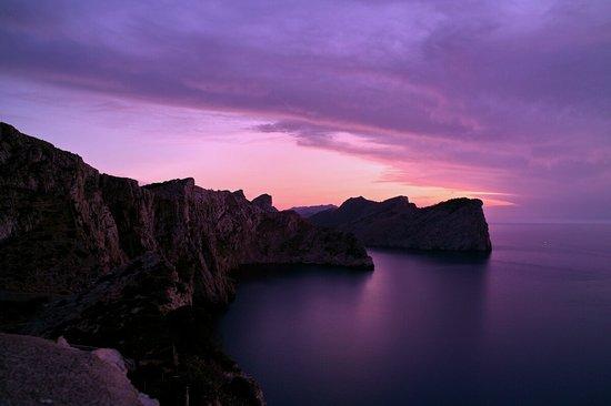 Abendlicht Richtung Westen vom Cap Formentor