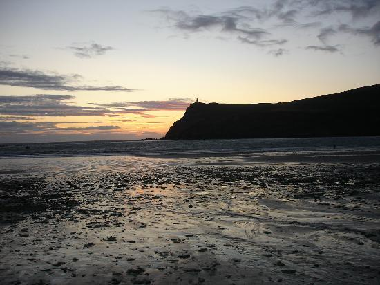 Port Erin, UK: view from our window at sunset