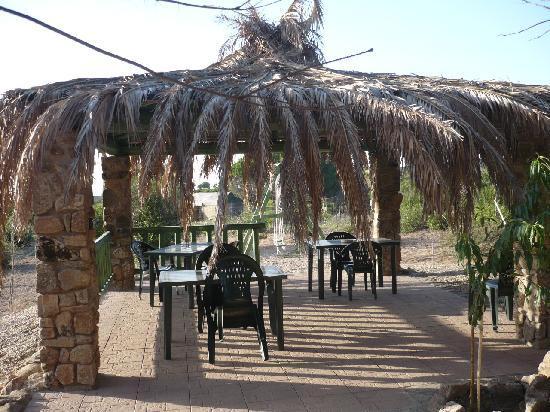 Villa Savina: Uno dei gazebo utilizzati per la colazione