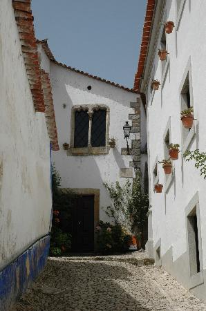 Obidos, Portugal: a little steep alley to where?