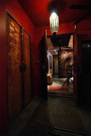 Baipho Boutique Residence Phuket: the Studio room has its own big red Chinese door entrance, direct to the lobby
