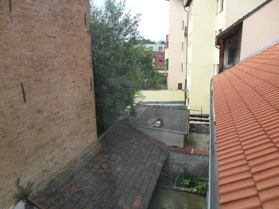 Hotel Roudna, Plzen: View from window. Nothing much, but it was quiter than the street view rooms.