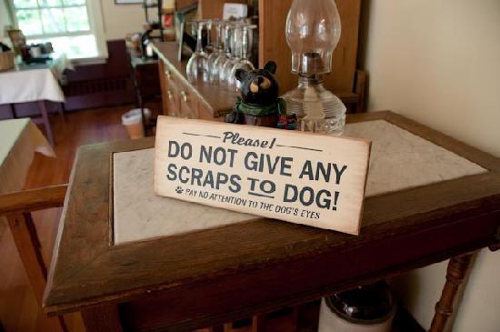 The Notchland Inn: Geen gebrek aan humor hier