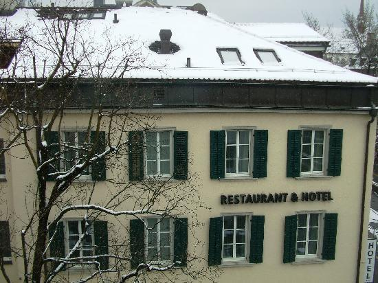 Hotel St. Josef: The main hotel building (seen from our room)