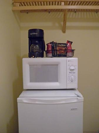 Henlopen Hotel: Appliances in former closet