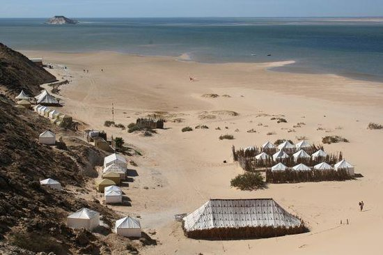 Ad Dakhla, Sahara occidental : Tents in Dakhla