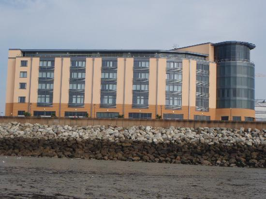 view of hotel from seafront - Picture of Radisson Blu Waterfront Hotel, Jersey, St. Helier ...