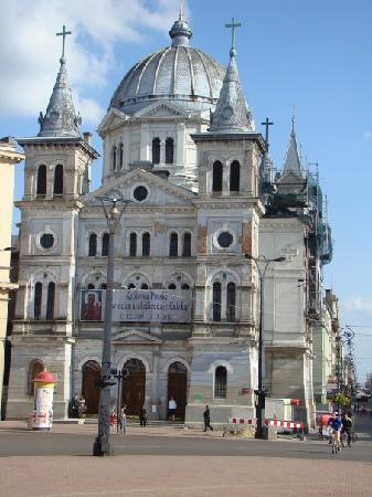 Lodz, Polonya: Altstadt, katholische Kirche