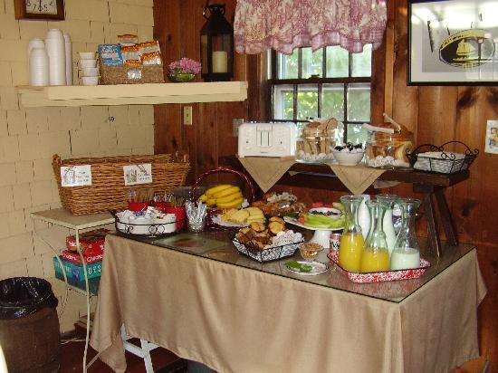 Ship's Knees Inn: The Continental Breakfast Table