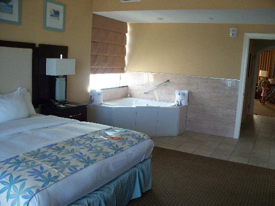 Corner king suite picture of hilton suites ocean city - 2 bedroom suites in ocean city md ...