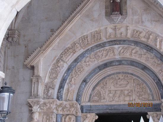 Trogir, Croatia: decorated church