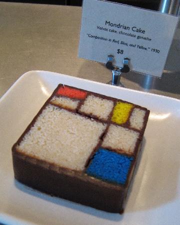 San Francisco Museum of Modern Art (SFMOMA): Mondrian cake @ SF MoMA