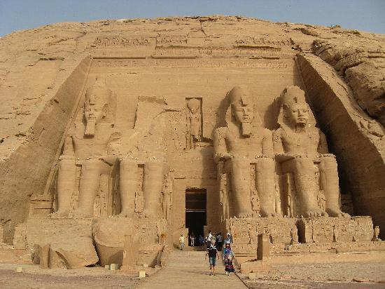 Abu Simbel: General view of the temple