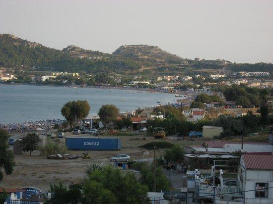 Hotel Calypso: vue du balcon sur faliraki