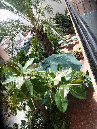 Hostal Valencia: terrasse vue de notre balcon