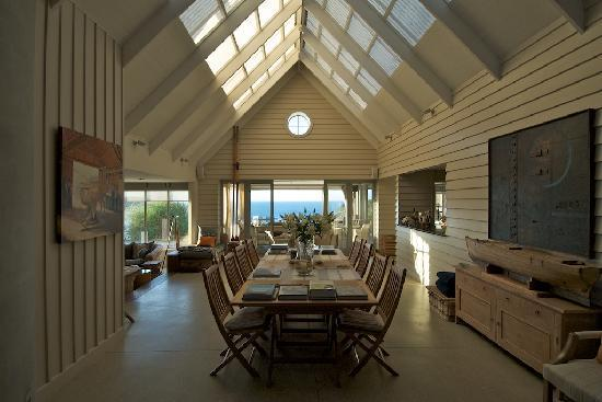 The Boatshed: The dining and living area with view to the ocean