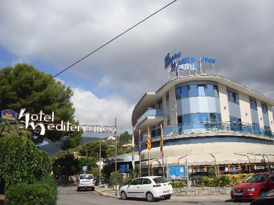Castelldefels, Spanien: Front of Hotel