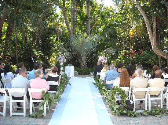 Wedding area set up by the staff simply beautiful for Hilton fort lauderdale beach resort wedding