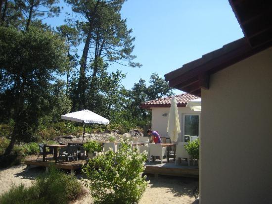 La Maison de la Prade : Terrasse du petit déjeuner